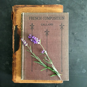 Rare 1920's French Culture Studies and Language Book - French Composition and Grammar Review - Joseph Galland 1922 Edition