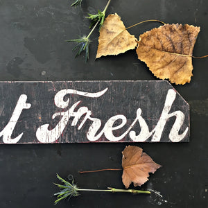 Handpainted Wood Farmers Market Sign  - Market Fresh - 35x6 - Distressed Wood Signage