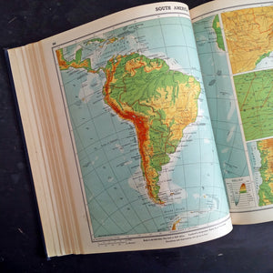 Vintage 1940's Atlas - Goode's School Atlas by J Paul Goode - Rand McNally & Company, 1947 Edition