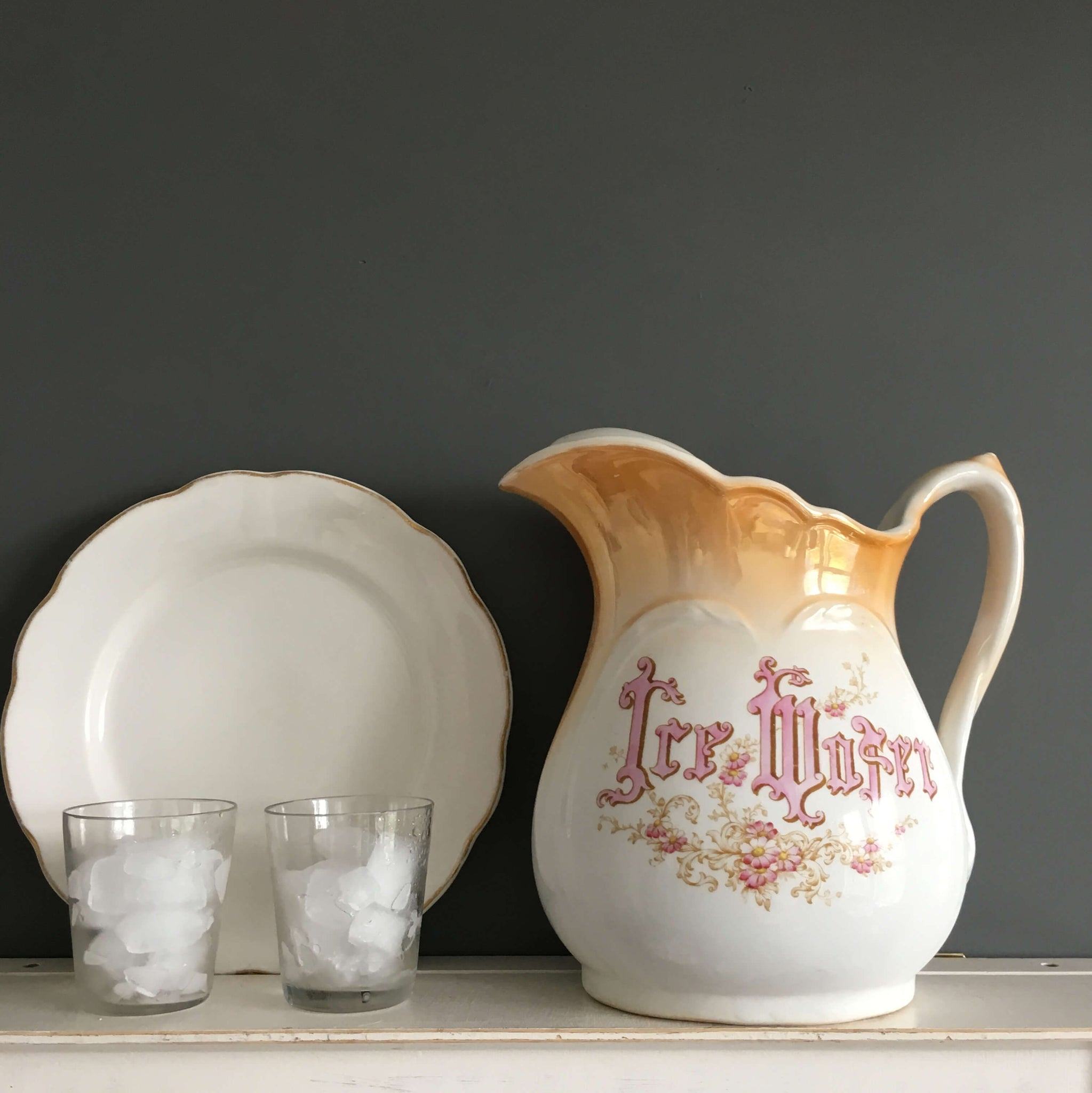 antique ice water pitcher victorian hotelware