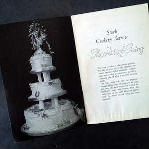 The Art of Icing - Stork Cookery Service  - 1960s British Instruction and Recipe Manuel for Cake Decorating