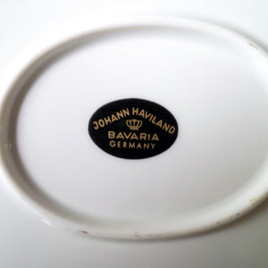Johann Haviland Platter- Vintage 1970's Platinum Riveria Pattern - Made in Bavaria, Germany