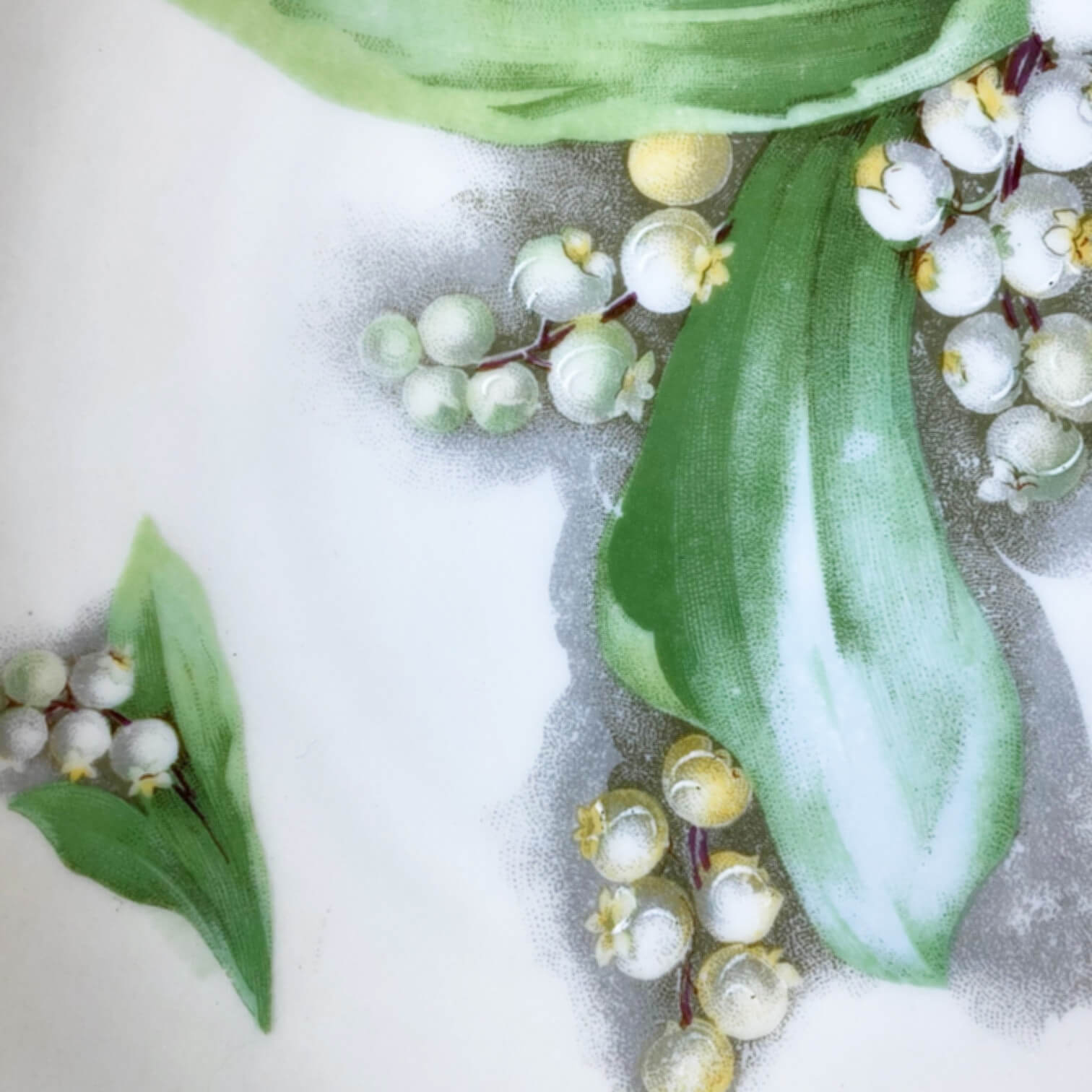 Antique Handpainted Porcelain Plate Featuring Lily of the Valley - Made by O & EG Royal Austria - Painted by Laporte circa 1899-1918