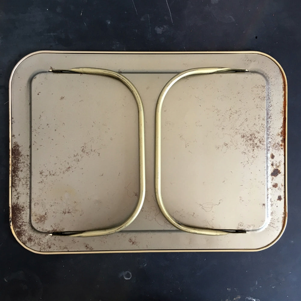 Vintage 1960's LaVada Lap Tray TV Tray - Gold Rose Design