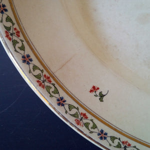 Antique John Maddock & Sons Platter - Royal Vitreous Made in England - 1800's Staffordshire Potteries