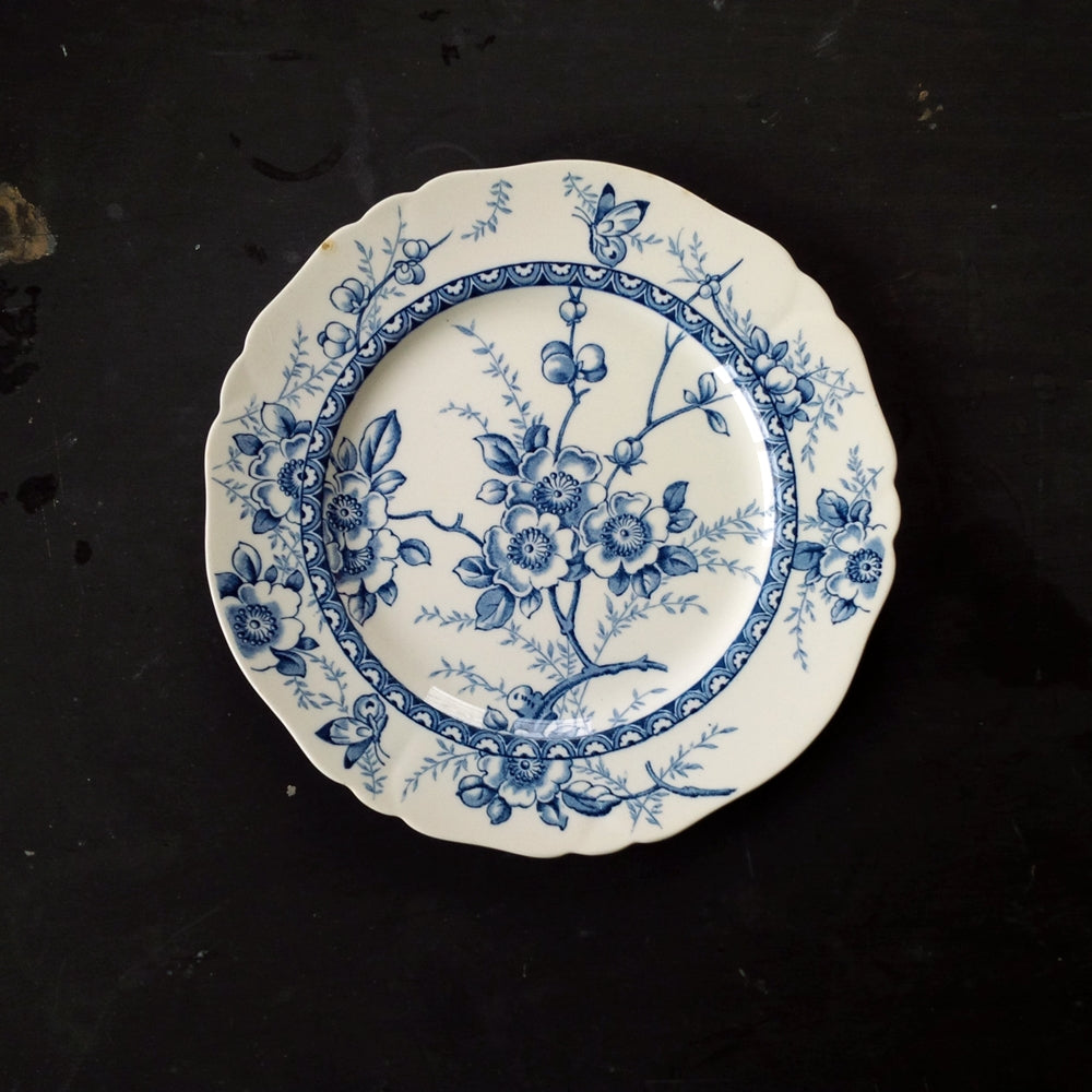 Antique Alfred Meakin Medway Decor All Blue Dinner Plate circa 1897