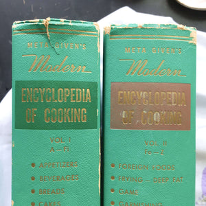 Meta Given's Modern Encyclopedia of Cooking - Volumes One and Two - 1959 Edition