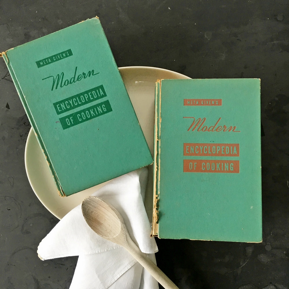 Meta Given's Modern Encyclopedia of Cooking - Volume One and Two - 1957 Edition, 7th Printing