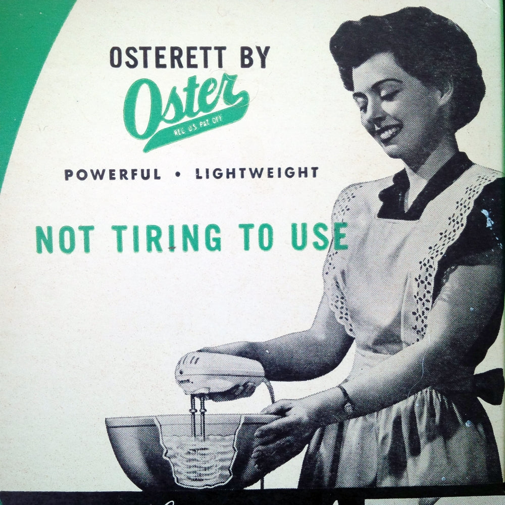 Rare Vintage 1940s Oster Mixer- Osterett Electric Hand Mixer Model 400 in Original Box - Working Condition
