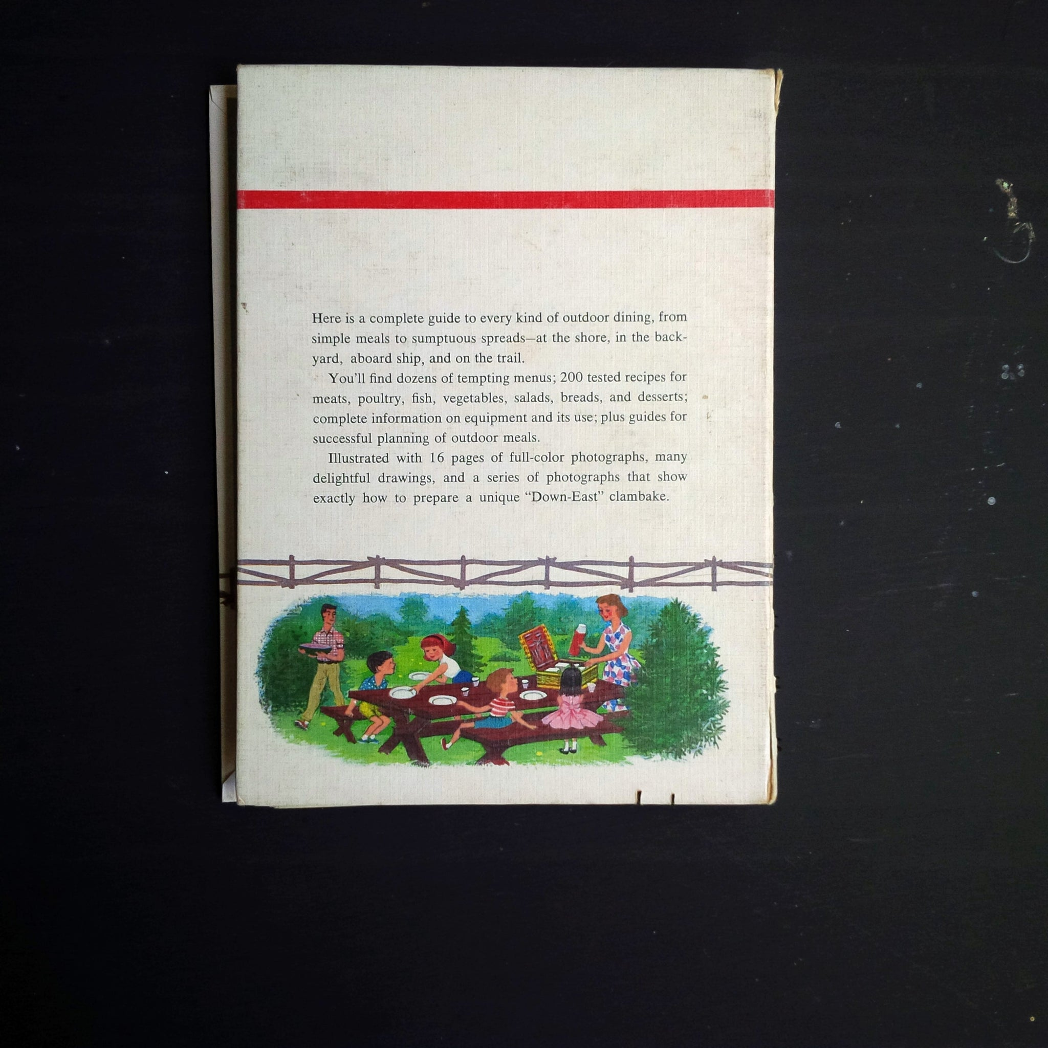 Betty Crocker's Outdoor Cook Book - 1960's Barbecue, Picnic and Party Menu Recipes