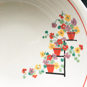Edwin Knowles Penthouse Pattern Vegetable Bowl - 1930s Art Deco Style Dishware