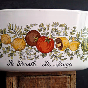Vintage Corning Ware Spice of Life Covered Dish - 1 and 1/2 Quart Capacity Le Persil La Sauge {Reserved for Cynthia}