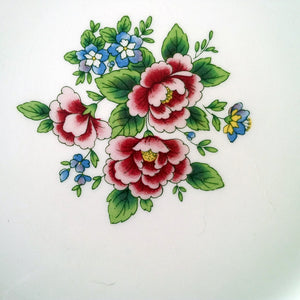 The Fabled Love Story Collection - Vintage Floral China Plates - Set of 3 Pieces