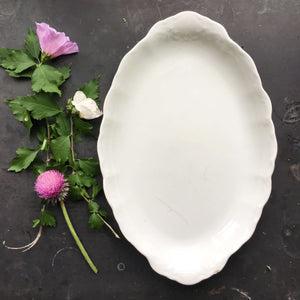 Antique O.P. Co. All White Platter - Syracuse China Restaurantware Circa 1897
