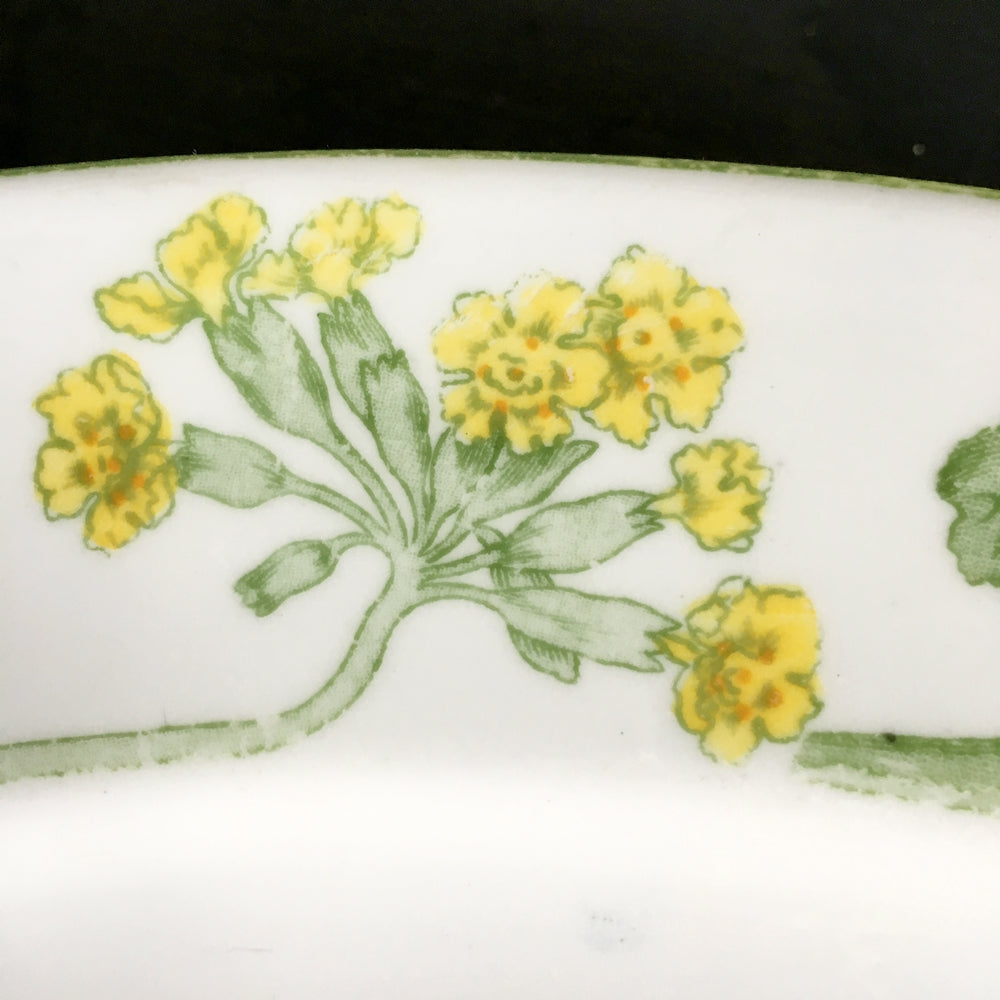 "Royal Gustafsberg Porcelain Platter J.H.V. 1232 - Yellow Flowers and Green Leaves - 17"" Inch Bone China Made in Sweden"