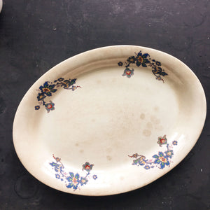 1920's Purple Floral Platter - Crown Potteries Company - 1928 - C.P.CO