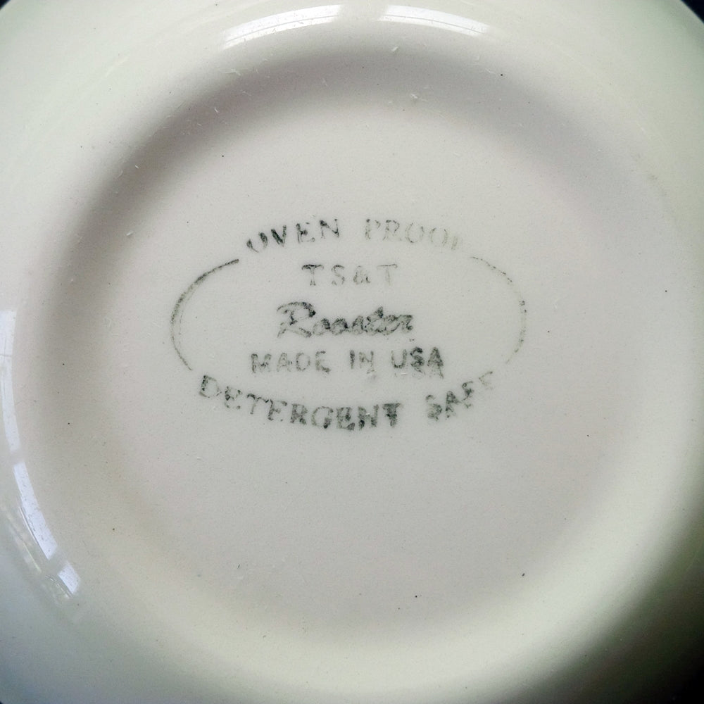 Vintage Taylor Smith & Taylor Rooster Bowl - Fruit/Dessert Size - Farmhouse Americana