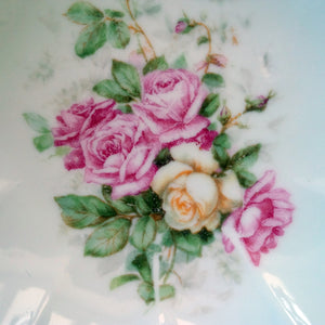 Vintage Pink Rose & Gold Dessert Bowls - Mix and Match Set of 4 - Shabby Chic Home