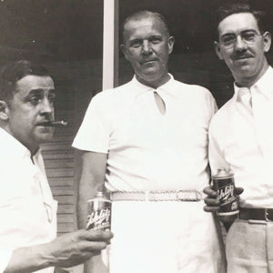 1920s Schlitz Beer Candid Photograph - Men and Beer and Cigars