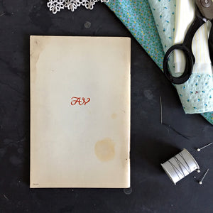 Vintage 1960s Sewing Book - The ABC's of Sewing from The Amy Vanderbilt Success Program for Women