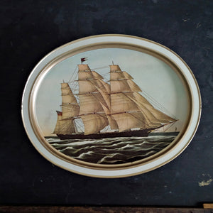 Vintage Sunshine Biscuits Tin Featuring the Flying Cloud and Red Jacket Clipper Ships