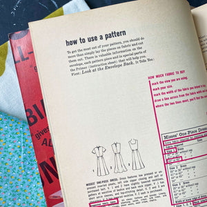 Simplicity Sewing Book - 1965 Edition - Instructional Guidebook for 1960s Fashion Design for Women