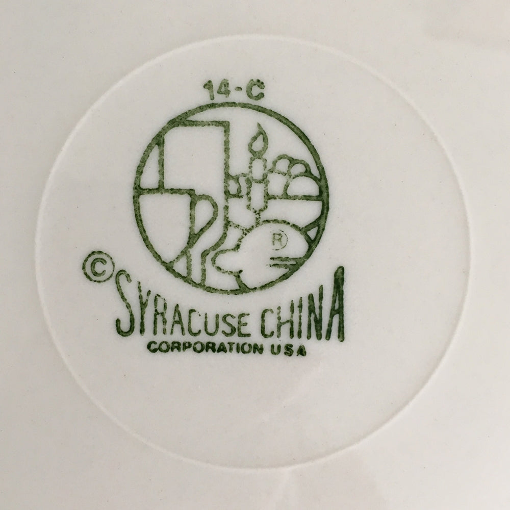Vintage Syracuse China Square Dinner Plate - Moonstone Pattern - Rare 1980s Restaurantware