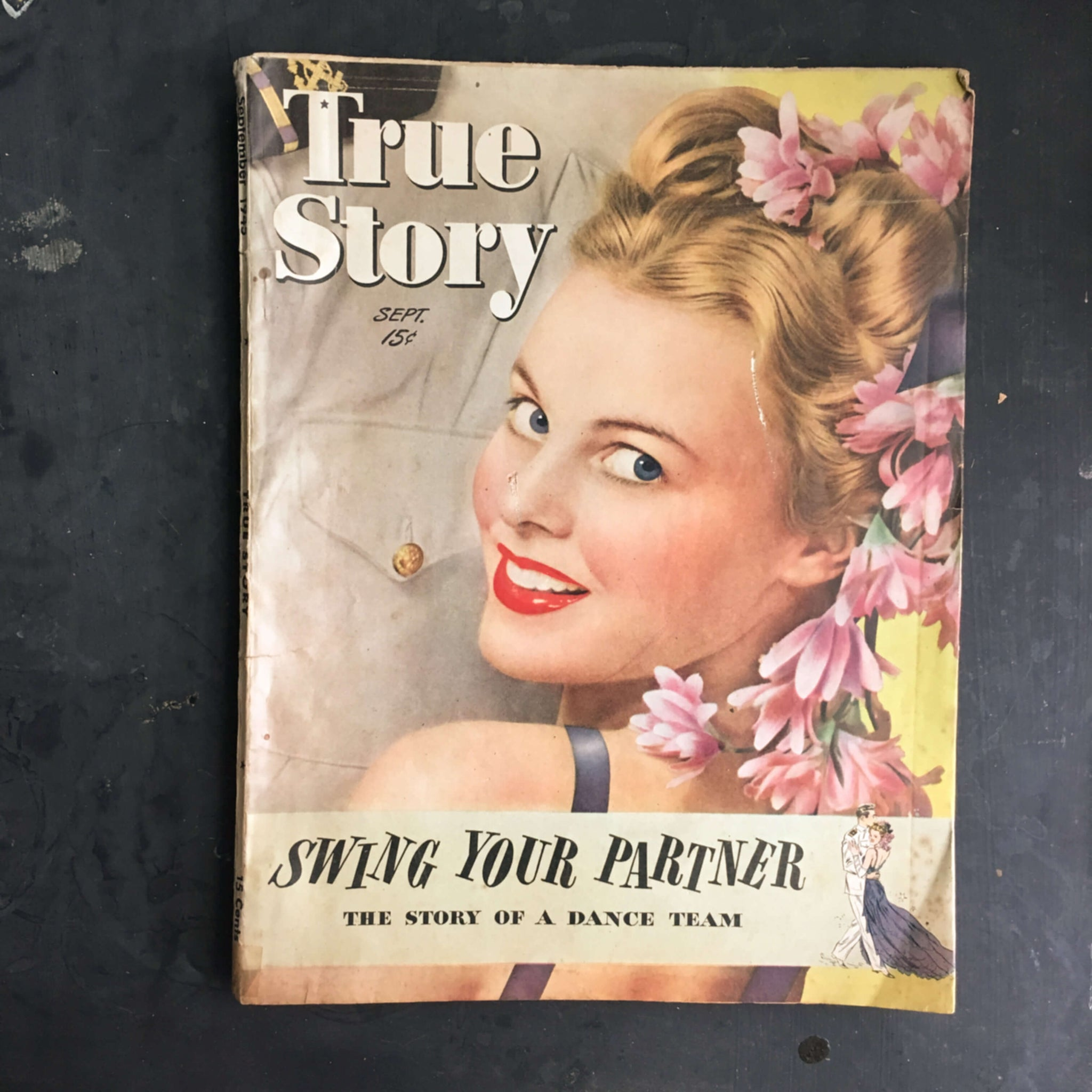 Vintage 1940s Magazine - True Story - September 1945 Issue - WWII Pop Culture Americana