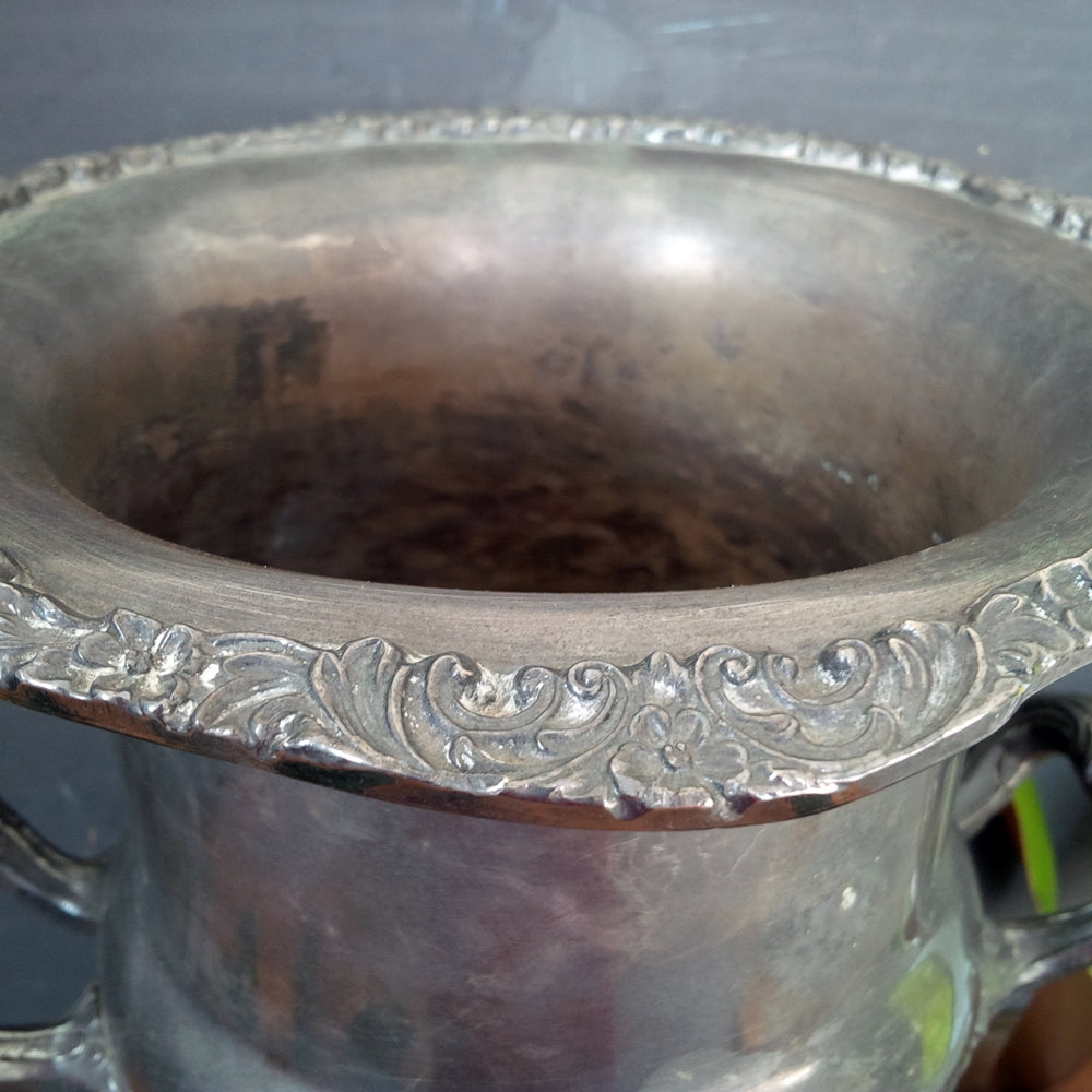 1940's Champagne Wine Bucket - Newport Gorham Silverplate P706 Decorative Urn