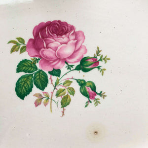 "Vintage 1940s June Rose Platter - Washington Colonial by Vogue - Rare Pink Rose 13"" Platter"