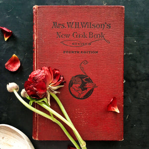 1920's Cookbook - Mrs Wilson's New Cook Book by Betty Lyles Wilson - 1920 Edition, 4th Printing - Very Rare Antique Cookbook