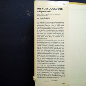 The Yogi Cook Book - Yogi Vithaldas  and Susan Roberts - 1960s Vegetarian Cookbook