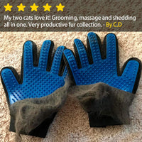 Five Finger De-Shedding Brush Glove