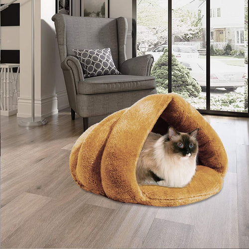 Soft Fleece Pet Cat Cave Bed - Cat Fantasy World