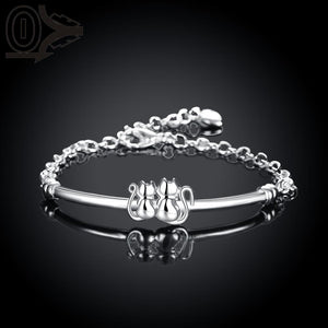 Cat Silver Plated Bracelet - Cat Fantasy World