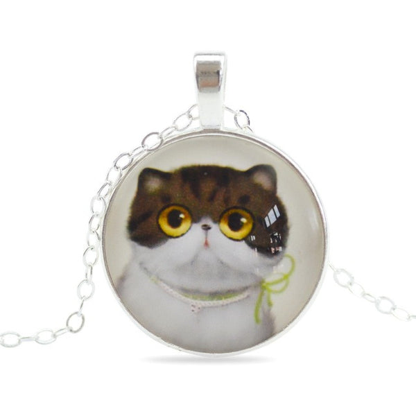 Cat Silver Necklace - Cat Fantasy World