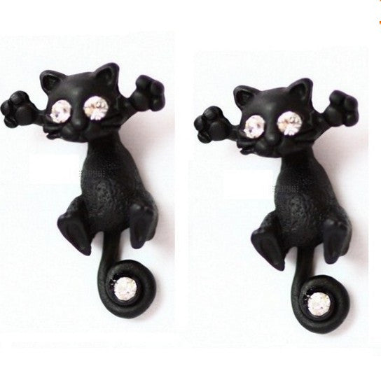 Black Cat Earrings - Cat Fantasy World