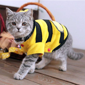 Soft Fleece Bumble Bee Cat Clothes - Cat Fantasy World