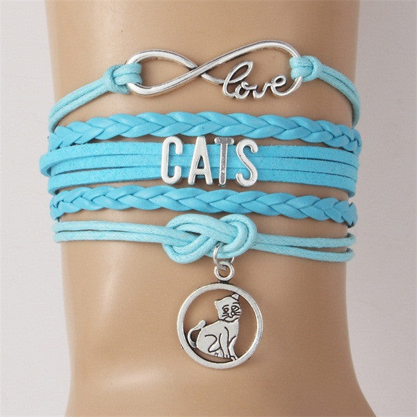 Cat Charm Bracelet - Cat Fantasy World