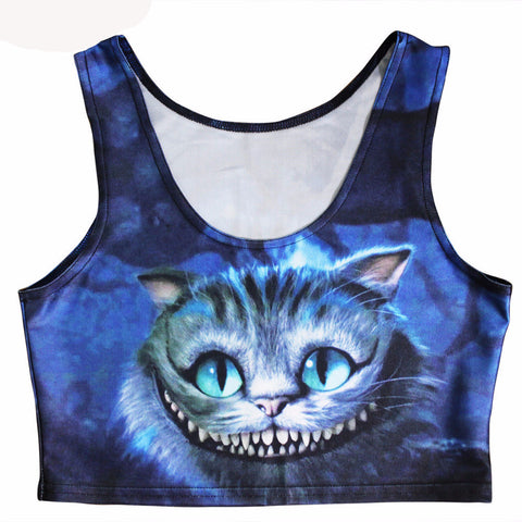 Stretchy Cheshire Cat Tank Top