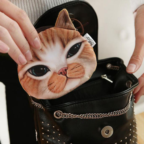 Cat Face Coin Pouch