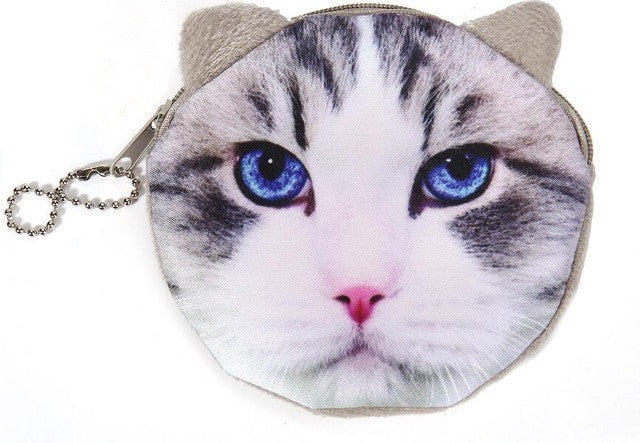 Cat Face Coin Pouch - Cat Fantasy World