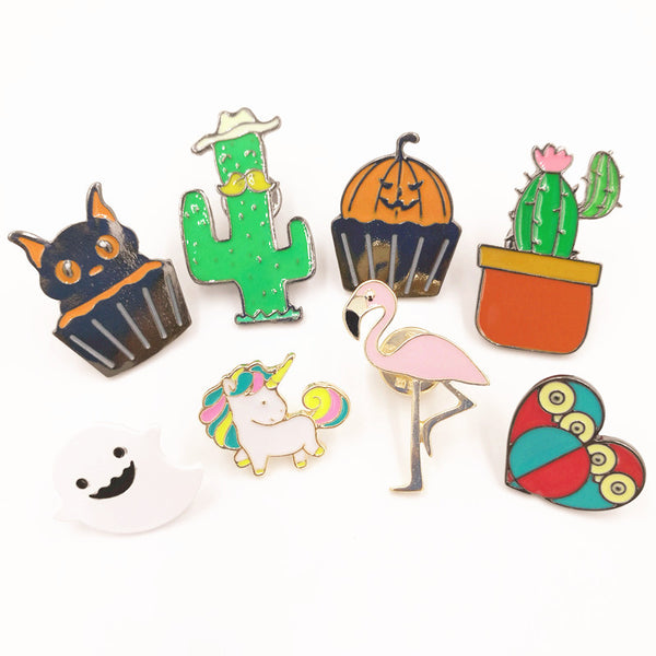 Cat & Other Alloy Brooch Pins - Cat Fantasy World