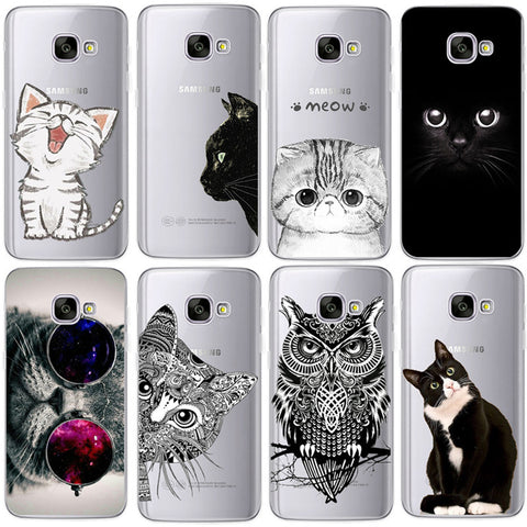 Silicon Cat iPhone Cases For Samsung Galaxy