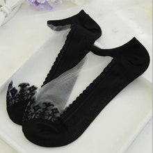Cute Cat Print Transparent Ankle Socks - Cat Fantasy World