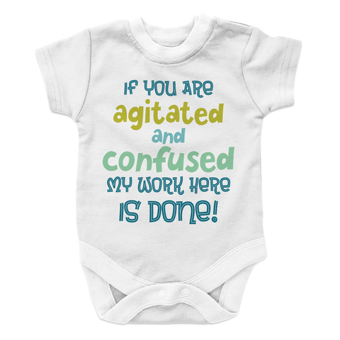 Agitated And Confused - 2 Baby Onesie