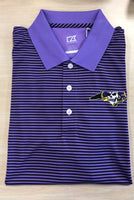 ECU Striped Polo