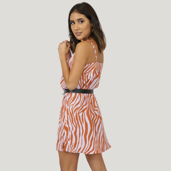 Copper Zebra Dress