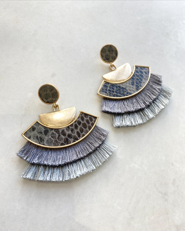 Ivy Earrings - Blue