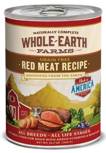 Canned - Whole Earth Farms Red Meat Recipe Canned Dog Food, 12/12.7 Oz